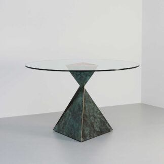 """Bronze base with """"Bottle Green"""" patina"""