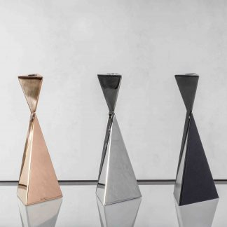 Polished Bronze, Polished Stainless Steel and Charcoal finish