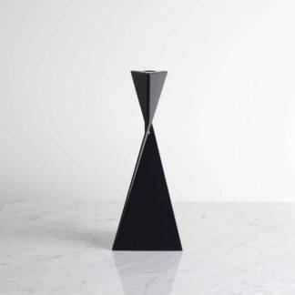 Navy metal candlestick