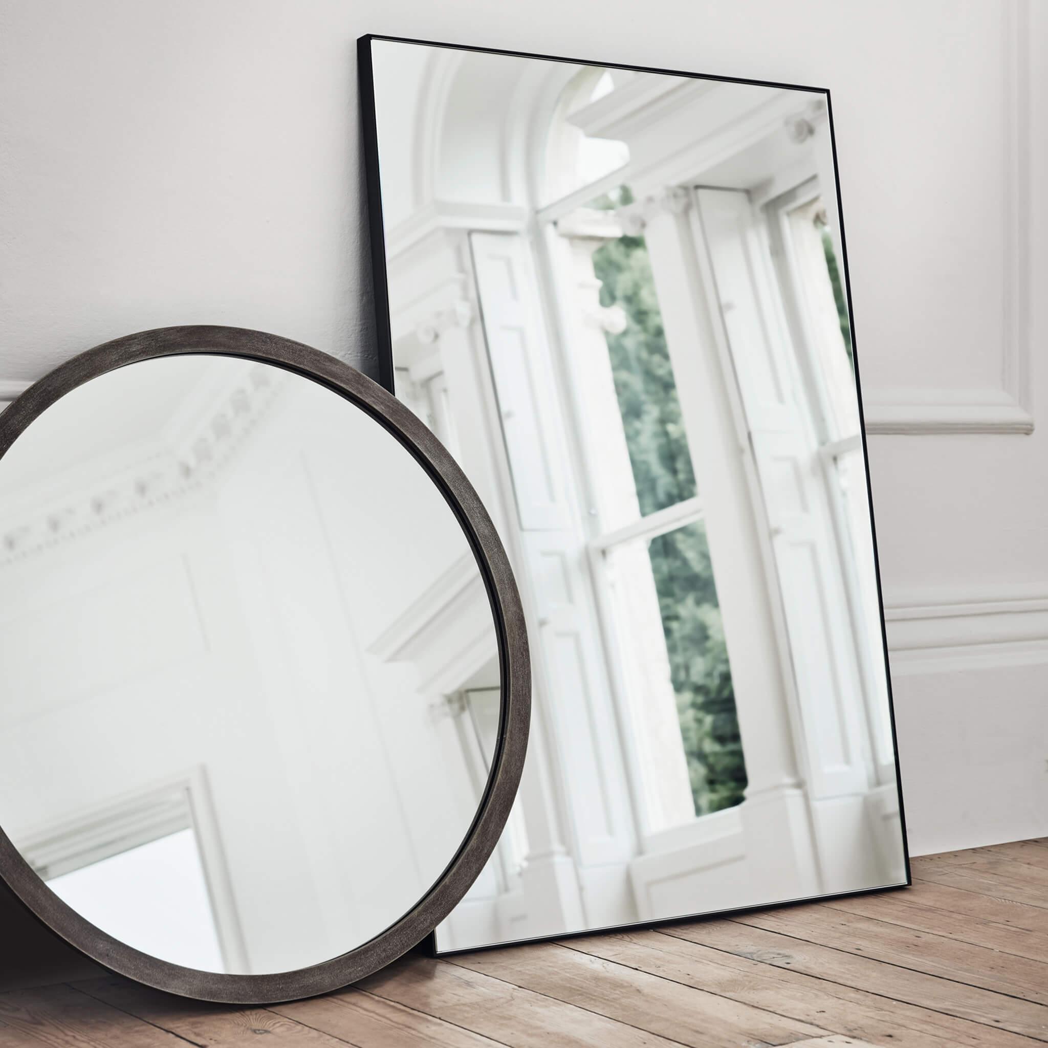 Round and Rectangular Mirrors | modern furniture by Tom Faulkner