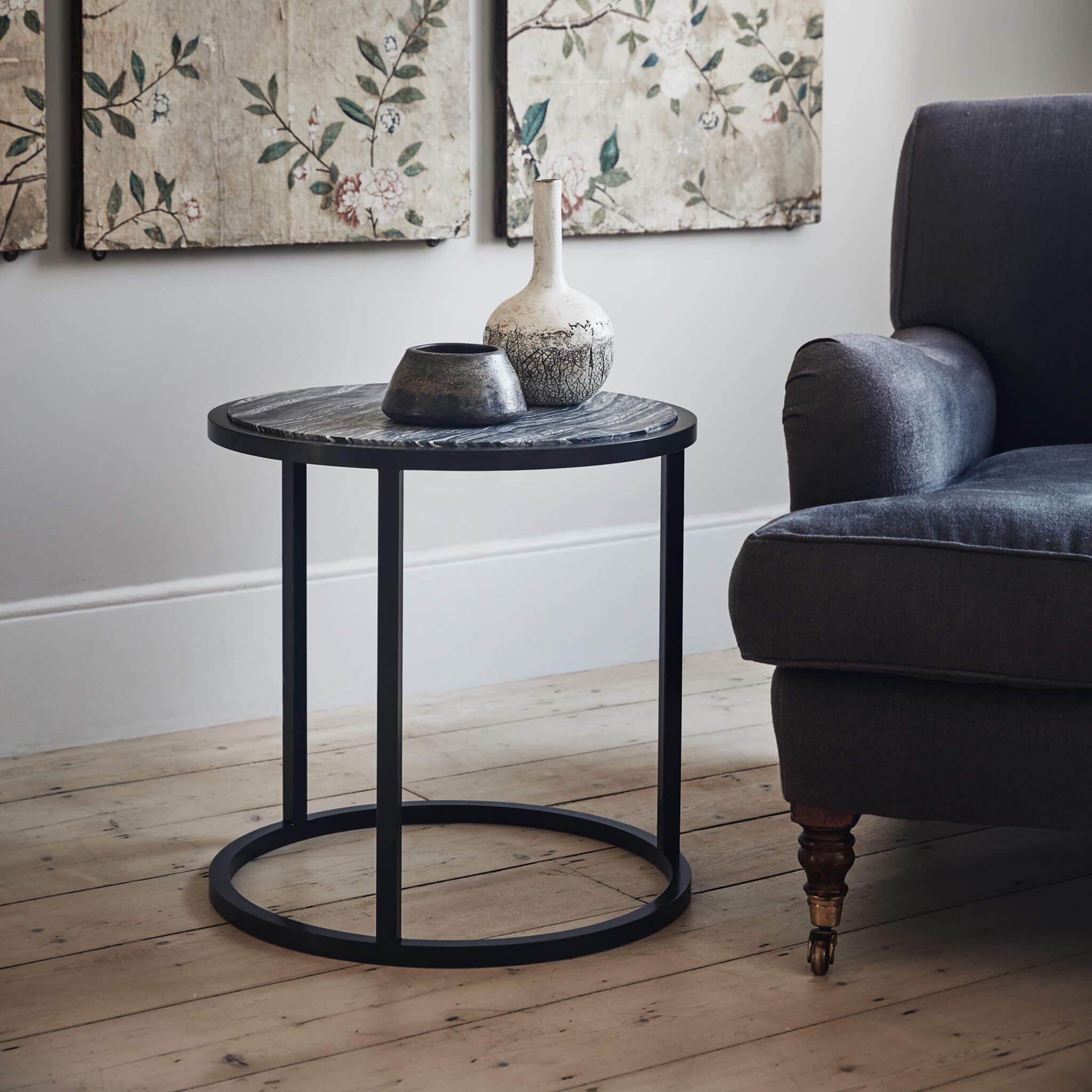 Siena Round Side Table | modern furniture by Tom Faulkner