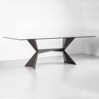 Echo contemporary rectangular dining table
