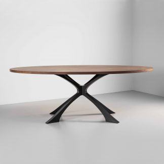 Walnut Oval Dining Table | Designer Furniture by Tom Faulkner
