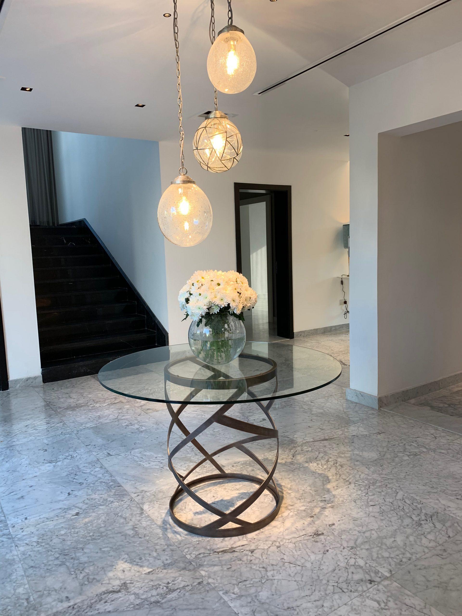 Tom Faulkner furniture in Dubai featured in the John Cullen Dubai showroom