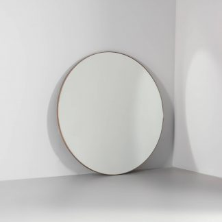 Lexington round metal mirror