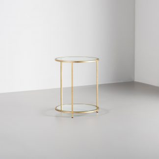 Lexington Gold Round Side Table | Contemporary Furniture by Tom Faulkner