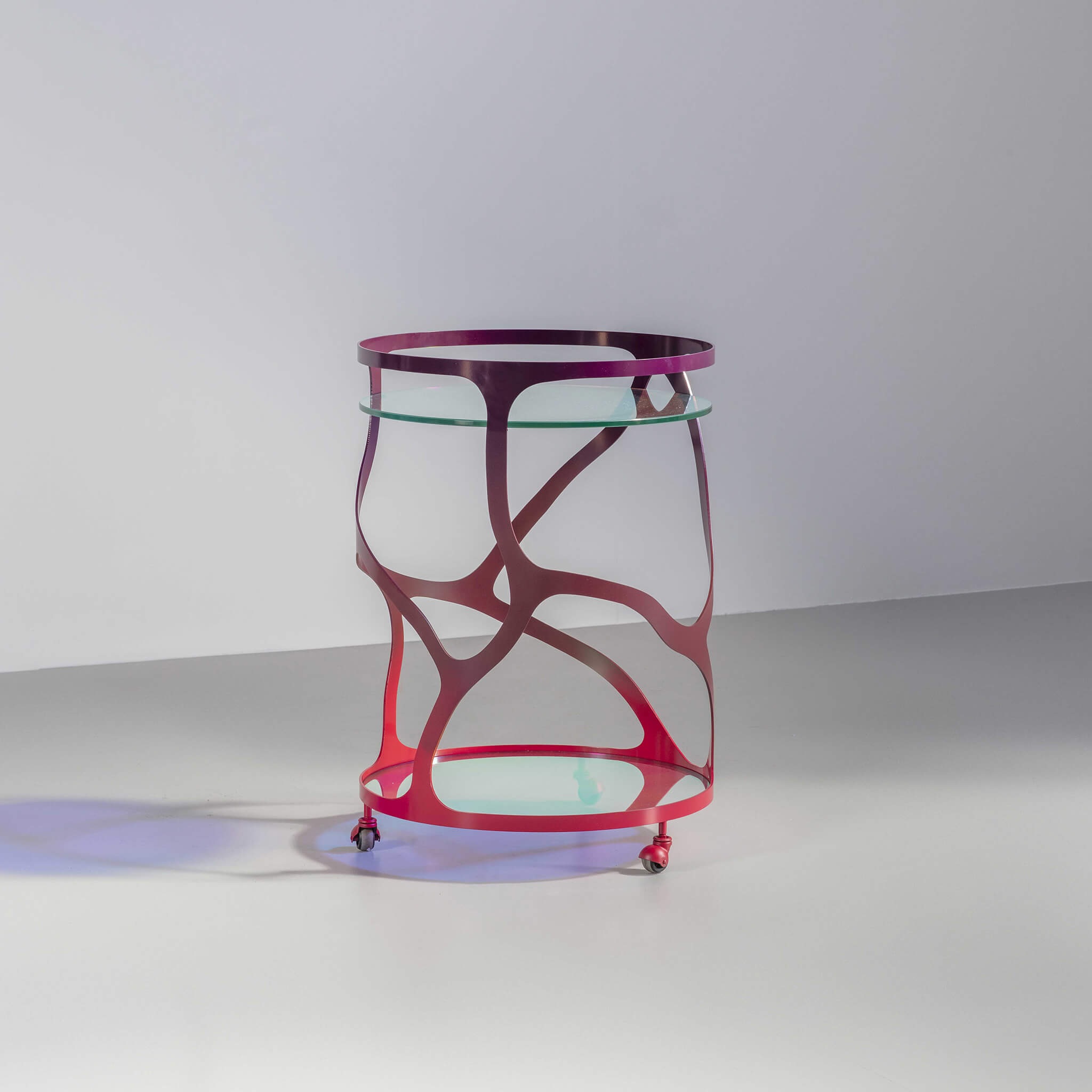 The Papillon round drinks trolley | luxury furniture by Tom Faulkner