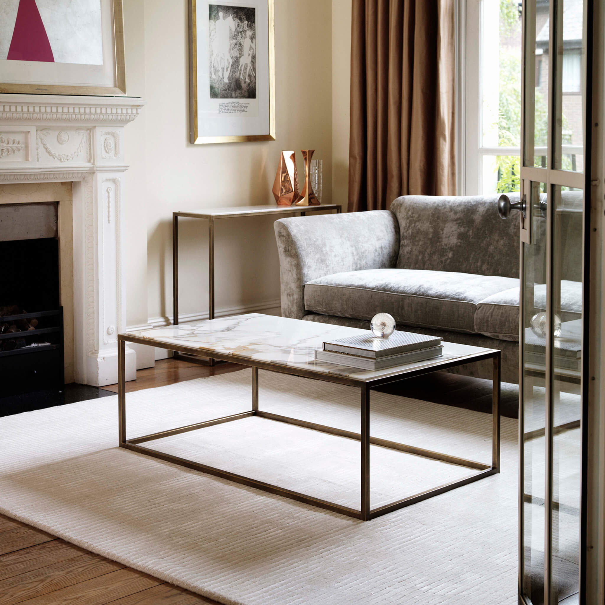 Siena Coffee Table in marble | Contemporary Furniture by Tom Faulkner