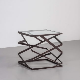 Contemporary square side table by Tom Faulkner