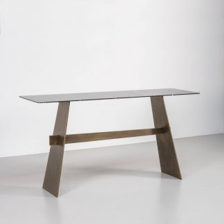 Edge console table by Tom Faulkner