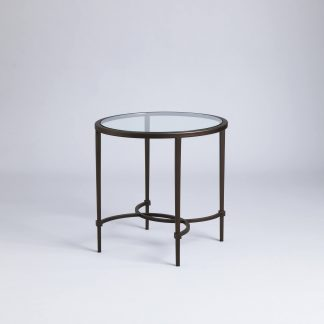 Hanover round side table by Tom Faulkner
