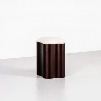 Modern sheepskin stool by Tom Faulkner