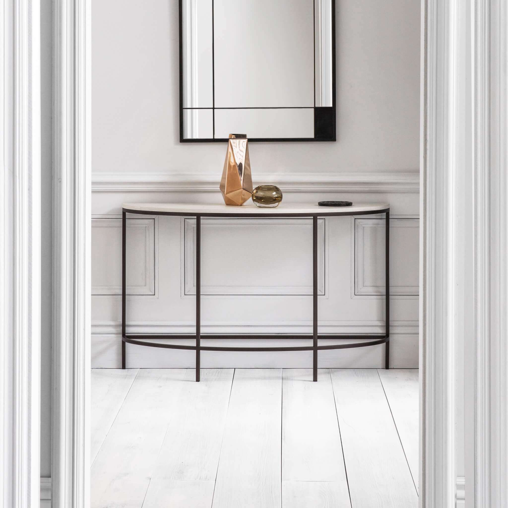 Madison Demi Lune Console Table | Modern Furniture by Tom Faulkner