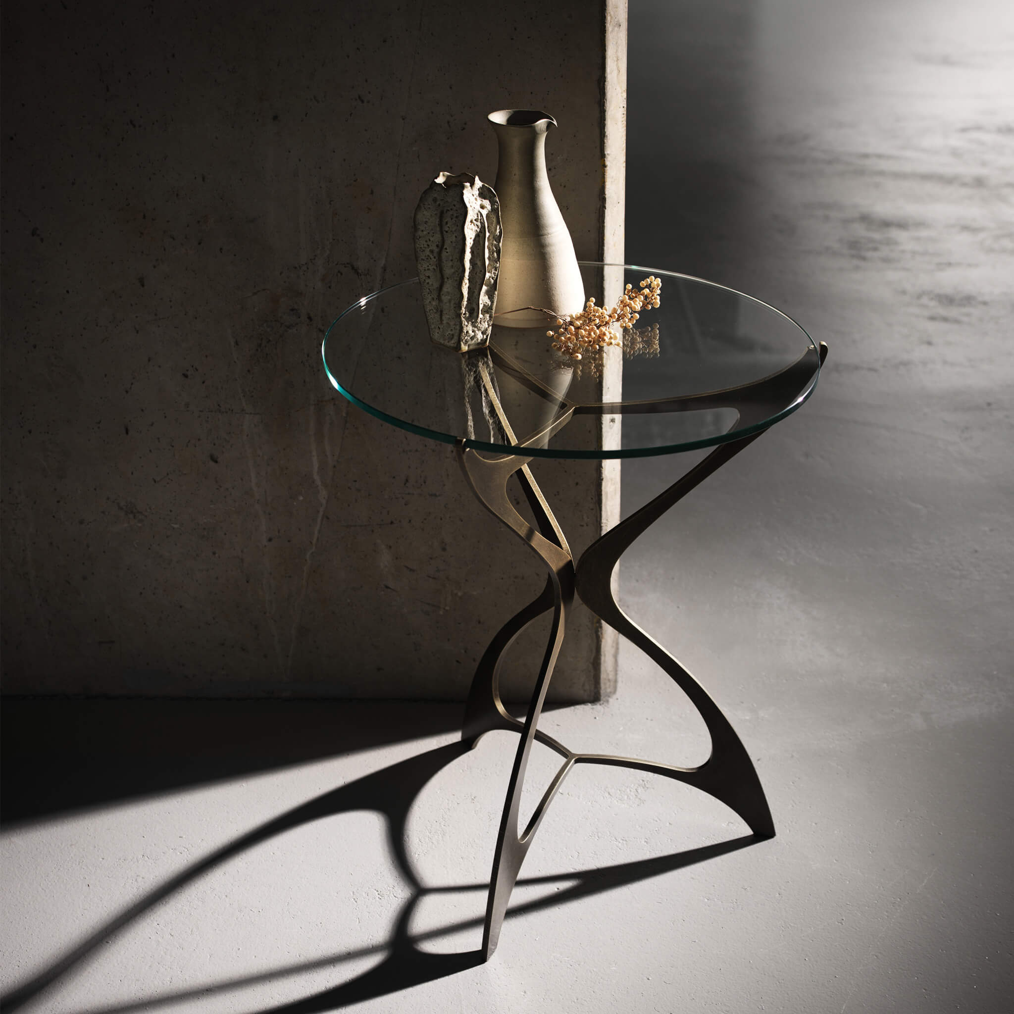 Opera Round Side Table | Modern Furniture by Tom Faulkner